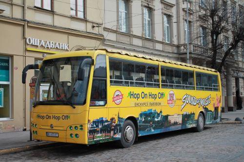 gatvė, autobusas, megalopolis, transporto sistema, kelias, ukraina, miestas, lviv, ekskursija, kelionė, turizmas, be honoraro mokesčio