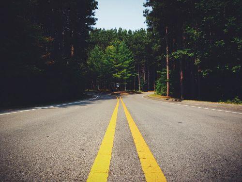 gatvė,kelias,greitkelis,sankryža,eismas,kelionė,asfaltas,gabenimas,greitkelis,nuotykis,ženklinimas,linija,miškas,sprendimas,kairėje,teisingai