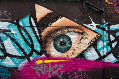 gatvės menas,Londonas,shoreditch,lengviau,gatvė,plytų kelias,menas,fasadas,miesto menas,fjeras,grafiti