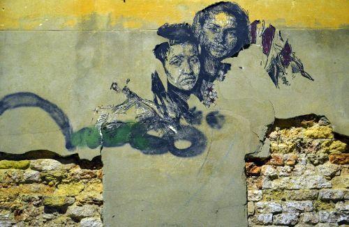 gatvės menas,miesto menas,fjeras,menas,sienų tapyba,siena,Venecija,grafiti,veidas