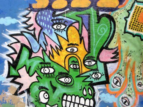 grafiti, menas, gatvė, menas, gatvė, menas, dažyti, spalvos, 3 ba gatvės menas