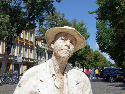 gatvės menininkai,menininkai,menas,vyras,galva,portretas