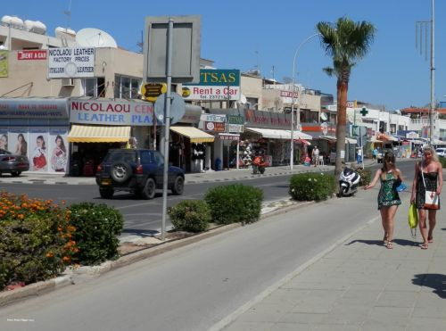 ayia & nbsp, napa, Kipras, gatvė, gatvė ayia napa