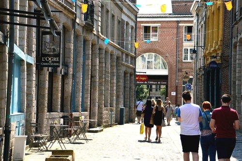 Gatvė Peterinck, metai Lilis, Senas Lilis rajono, Lille, Miestas, šiaurės platumos, Prancūzija viršūnes, prekybos gatvė, pėsčiųjų gatvė