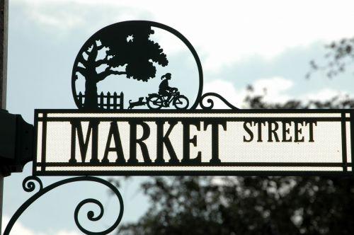 gatvė & nbsp, ženklas, simbolis, kryptis, kelias & nbsp, ženklas, metalas, lauke, kelias, kelio ženklas