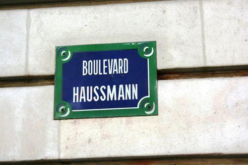 kelio ženklas,boulevard haussmann,paris