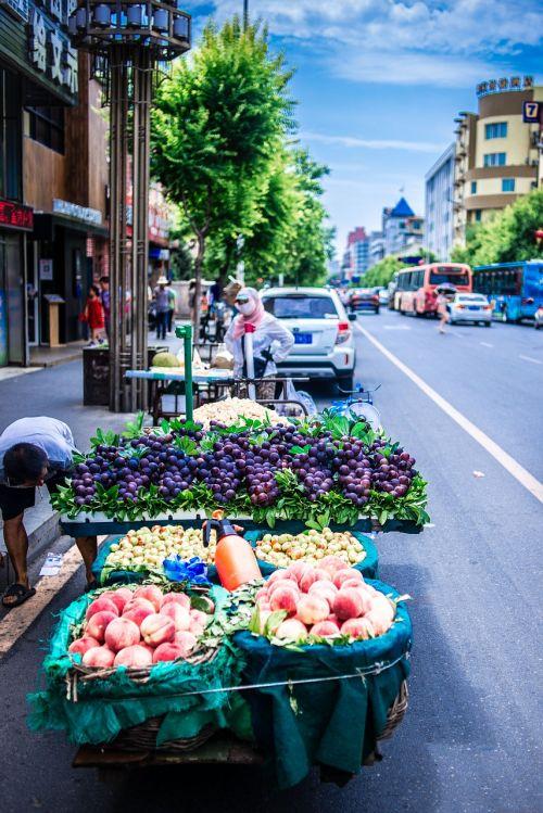 gatvės vaizdas,Shenyang,humanitariniai mokslai,turgus,gatvės turgus