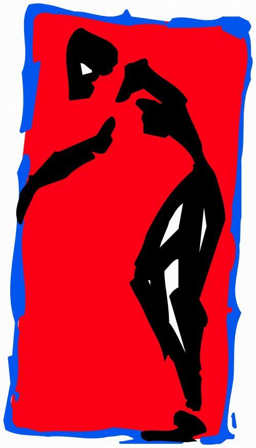 iliustracija, piešimas, išraiška, eskizas, figūra, juoda & nbsp, raudona, gimnastika, ruožas, grupė & nbsp, viršija, ruožas 2