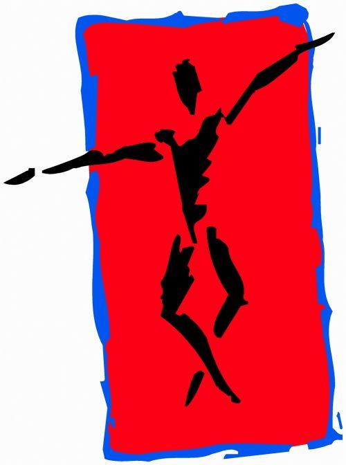 iliustracija, piešimas, išraiška, eskizas, figūra, juoda & nbsp, raudona, gimnastika, ruožas, ištemdytas & nbsp, ginklas, kryžminės & nbsp, kojos, ruožas 3