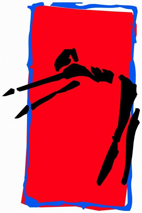 iliustracija, piešimas, išraiška, eskizas, figūra, juoda & nbsp, raudona, gimnastika, ruožas, grupė & nbsp, viršija, ruožas 5