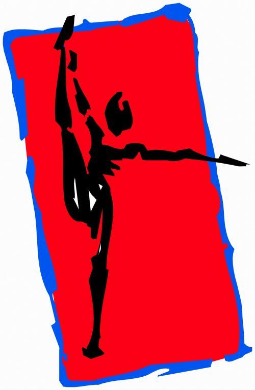iliustracija, piešimas, išraiška, eskizas, figūra, juoda & nbsp, raudona, gimnastika, ruožas, kojos & nbsp, ruožas 8