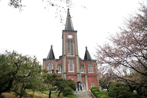 struktūra, metai, Top, dangus, statyba, Katalikų bažnyčia, kiekvienas naikinimas, bet, Korėja nėra, kankiniai, Korėja katalikų