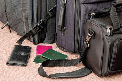 lagaminas, kelionė, maišas, bagažas, bagažas, kelionė, atostogos, šventė, kelionė, turizmas, kelionė, turistinis, keliautojas, pasas, keliauti