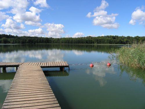 vasara,saulė,vanduo,ežerai,meklenburgo ežerai,dangus,mėlynas,prieplauka,šventė,debesys,papludimys,gamta,plaukti