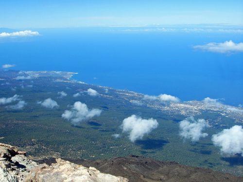 aukščiausiojo lygio susitikimas,perspektyva,panorama,pico del teide,geras vaizdas,Tenerifė,vaizdas,sala,tolimas vaizdas