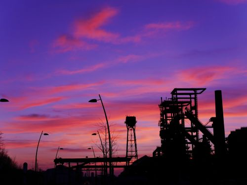 saulės pasakos rangas,industrija,Hoesch,Dortmundas,phoenix,saulėlydis,Phoenix ežeras,romantika,sąskaitą,dangus