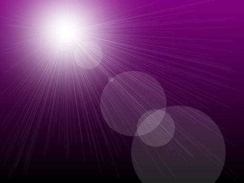 saulės spindulys, violetinė, fonas, saulės spinduliai purpuriniame fone