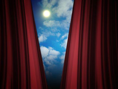 debesis, dangus, saulė, saulėtas, užuolaidos, viltis, viltis, atviras, atidarymas, saulėta diena
