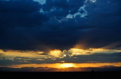 saulėtekis, gamta, dykuma, kraštovaizdis, kalnai, Arizona, saulėtekis 7-17-12