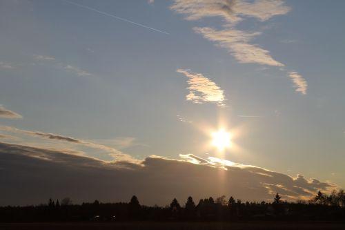 saulėlydis,saulė,abendstimmung