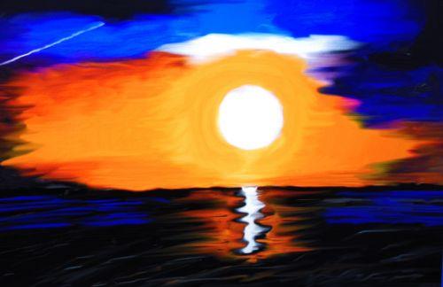 saulėlydis,jūra,farbenpracht,vakarinis dangus