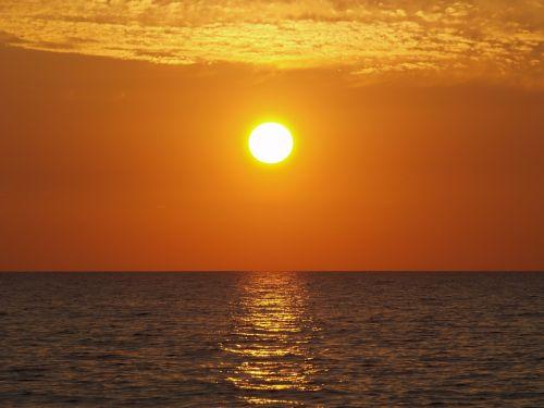 saulėlydis,jūra,abendstimmung