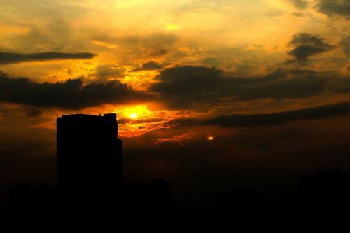 saulėlydis,twilight,Haining