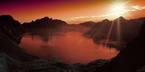 saulėlydis,ežeras,kalnas,peizažas,kraštovaizdis,gamta,vanduo,natūralus,natūralus vanduo