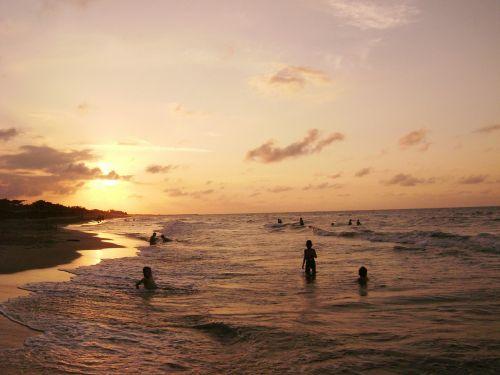 saulėlydis,papludimys,dusk