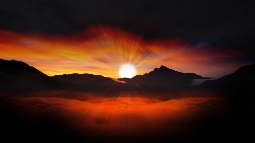 saulėlydis,saulė,šviesa,kraštovaizdis,vakarinis dangus,dangus,raudona,nuotaika,švytėjimas,debesys,afterglow,raudonas dangus,romantika,vakaras,aušra,morgenstimmung,saulėtekis,menas,dangus