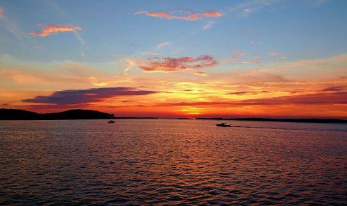 saulėlydis,upstate new york,1000 salų regionas,įspūdingas