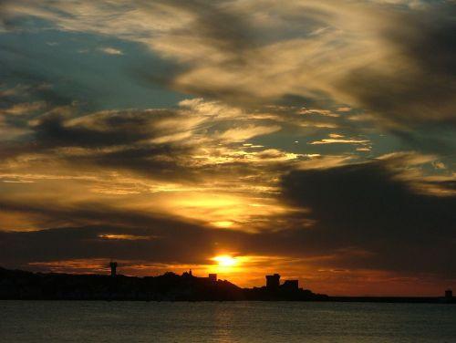 saulėlydis,įlanka,st jean de luz