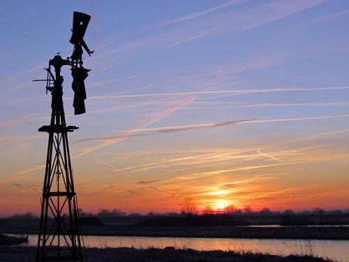saulėlydis,holland,polderis,malūnas,vėjo malūnas,vakaras,noord-holland,saulė,ganykla,taikus,vaizdas,atsipalaiduoti