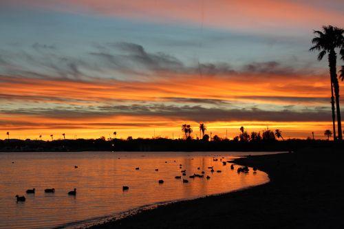 saulėlydis,Arizona,ežeras