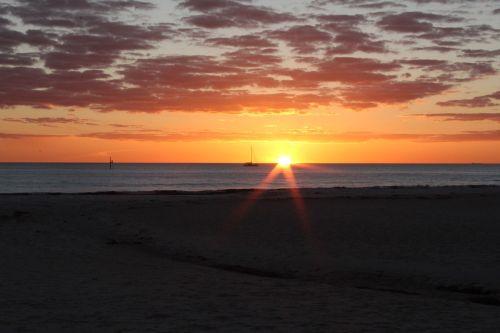 saulėlydis,papludimys,oranžinė,paplūdimio vakaras,vasara,vakaras,vandenynas
