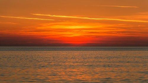 saulėlydžio, jūra, farbenpracht, abendstimmung, Kroatija, vandens, debesys, prie jūros, saulėlydis jūra, saulė, atostogos, vakare, Afterglow, Romantika, Šiaurės jūra, Baltijos jūra, ežeras
