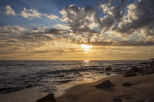 saulėlydžio, papludimys, vasara, atostogos, prieblanda, romantiškas, vandenynas, Twilight, Romantika, auksas, pobūdį, vandens, abendstimmung, dangus