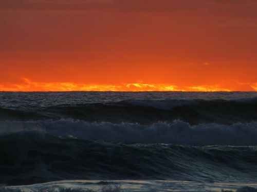 saulėlydis,jūra,papludimys,farbenpracht