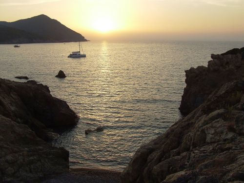 saulėlydis,jūra,Korsika