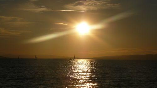 saulėlydis,abendstimmung,saulė,vakarinis dangus,dusk,romantiškas,saulė ir jūra,Besileidžianti saulė,gamta,afterglow