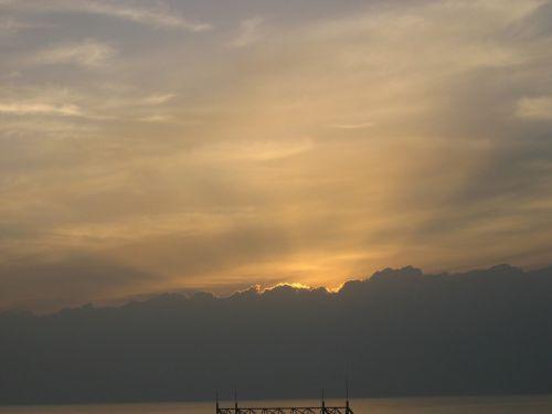 saulėlydis,afterglow,jūra