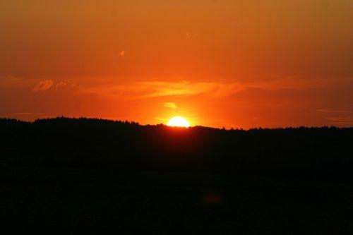 saulėlydis,saulė,afterglow