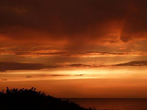 saulėlydis,debesys,dangus,vakarinis dangus,abendstimmung,romantiškas,dusk,oranžinis dangus,vanduo,jūra,miškas