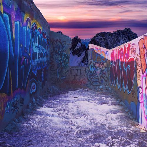sirrealis,apšvietimas,fantazija,grafiti,siena