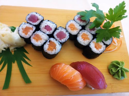 Sushi, Žuvis, Asija