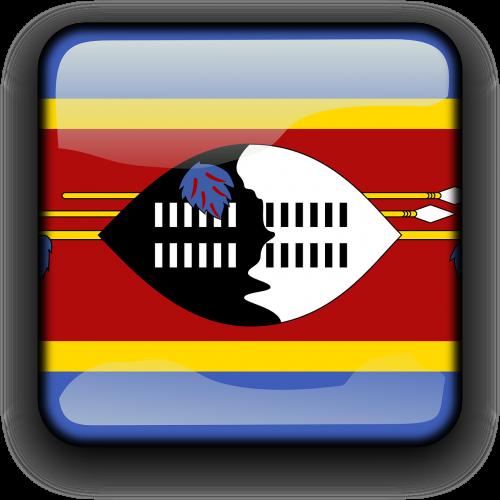 Svazilandas,vėliava,Šalis,Tautybė,kvadratas,mygtukas,blizgus,nemokama vektorinė grafika