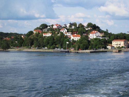 Švedija,Švedijos archipelagas,Göteborg,Västra Götaland County,Baltijos jūra,gothenburg,Švedijos,Gothenburgo archipelagas,Švedijos pakrantė,Rokas,namai ant uolų,jūra,archipelagas,gamta,Skandinavija,kraštovaizdis,perspektyva,šventė