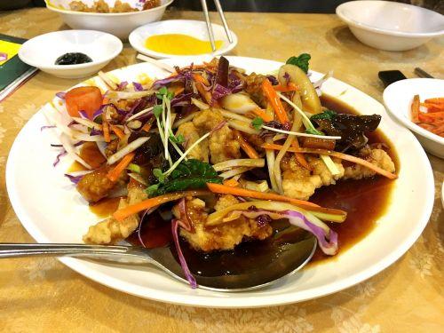 Saldžiarūgštė kiauliena,maistas,mėsa,kepkite,kiauliena,Kinijos maitinimo respublika