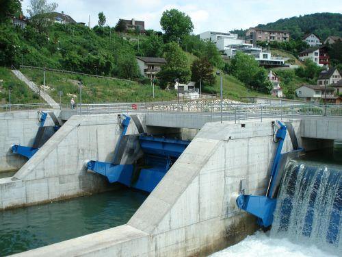 plaukti,elektrinė,limmat,energijos šaltinis,energija,tvarus,vanduo,upė,Šveicarija,weir,užtvankos,viršutinė pūslelinė,aargau,elektros energijos gamyba,elektra,pastatas