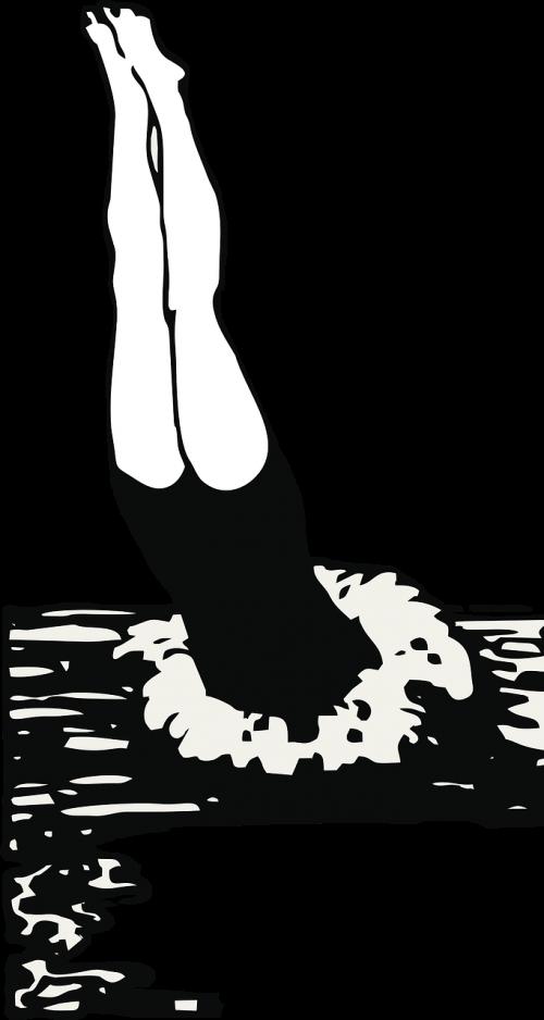 Plaukti, Pasinerti, Plaukikas, Plaukti Komanda, Vintage, Derliaus Iliustracija, Vasara, Vanduo, Maudytis, Baseinas, Purslų, Vektorius, Nemokama Vektorinė Grafika